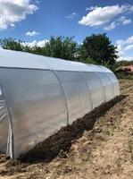 Sera de gradina pentru legume/flori structura metalica 10/4 m