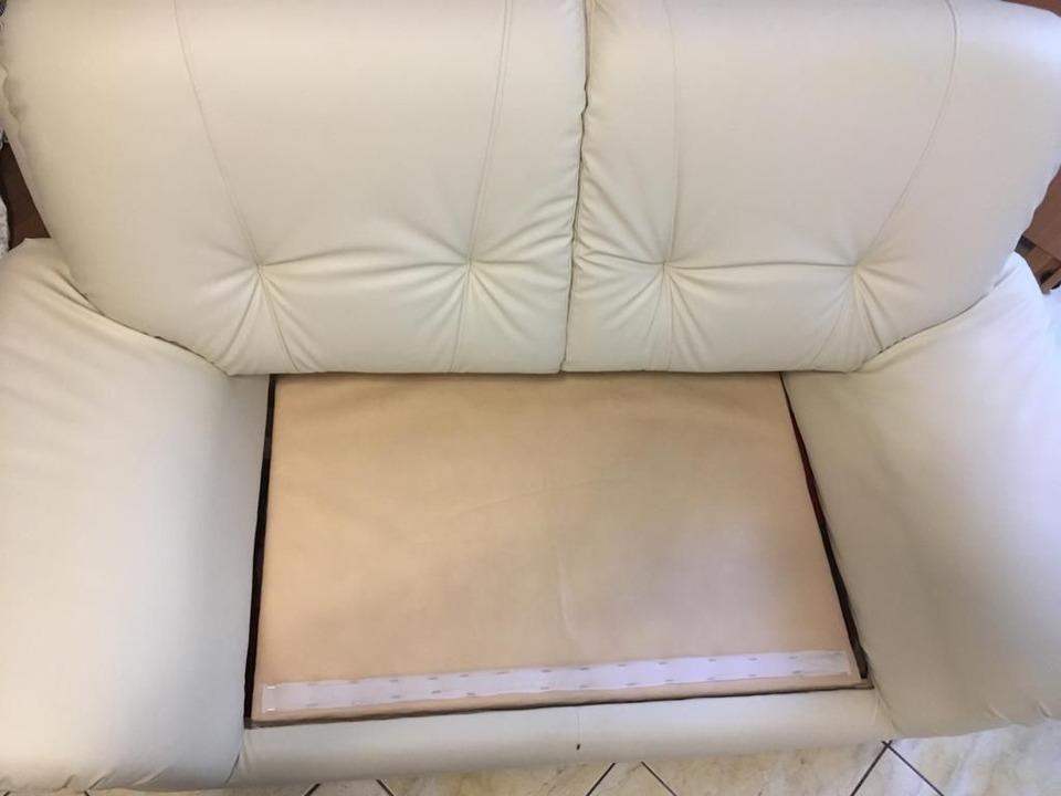 canapea piele,2 locuri,culoare crem