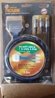 SCART – 2 RCA + S – VHS 4 PIN lungime 5m