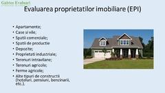 Evaluarea proprietatilor imobiliare si bunurilor mobile