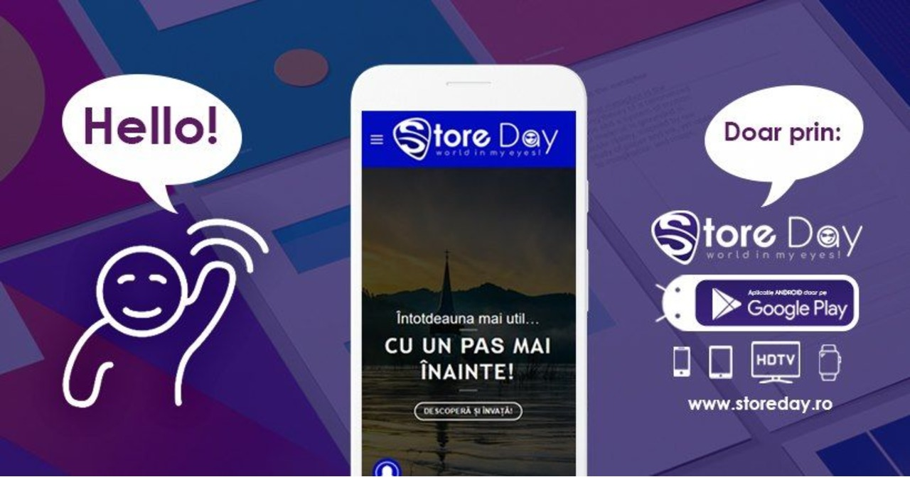 Te astept pe aplicatia >>> StoreDay România · tutoriale it · grafică · web design