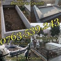 Imprejmuire Morminte Gardut Metalic Bordura Mozaic Granit