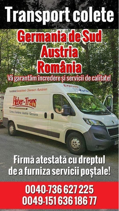 Transport colete, pachete Germania - Austria - Romania si retur de la adresa la adresa