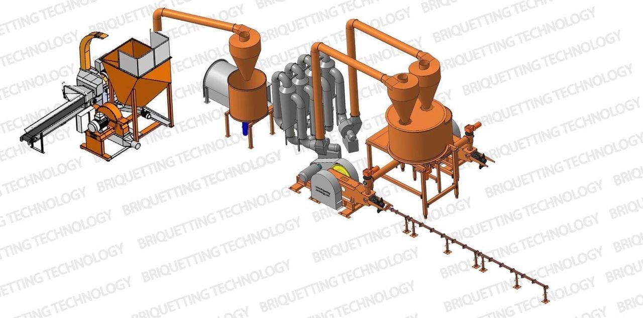 Linie brichetare brichete 700-900 kg/ora