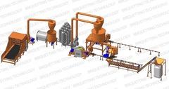 Linie brichetare brichete 900-2500 kg/ora