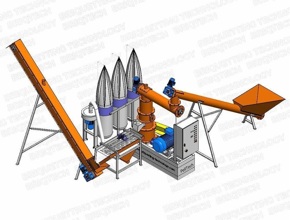 Minicomplex presa peleti GFD-0.7