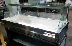 Vitrina calda inox (bain marie)5GN1/1  geam de banc