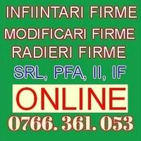 INFIINTARE FIRMA ONLINE – REGISTRUL COMERTULUI